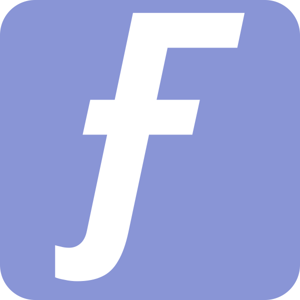 Federama icon with white text on a blue background