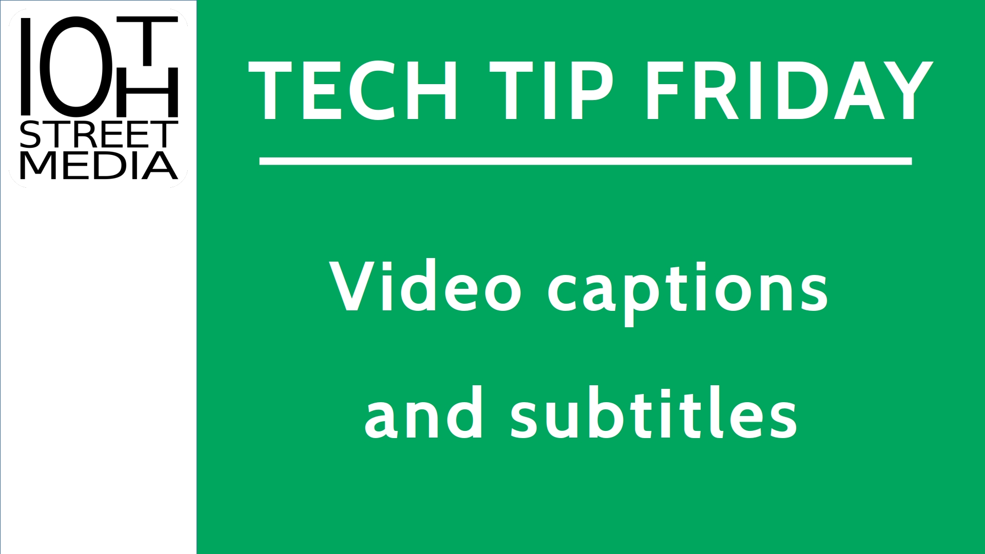 Title card for the 2nd episode of Tech Tip Friday