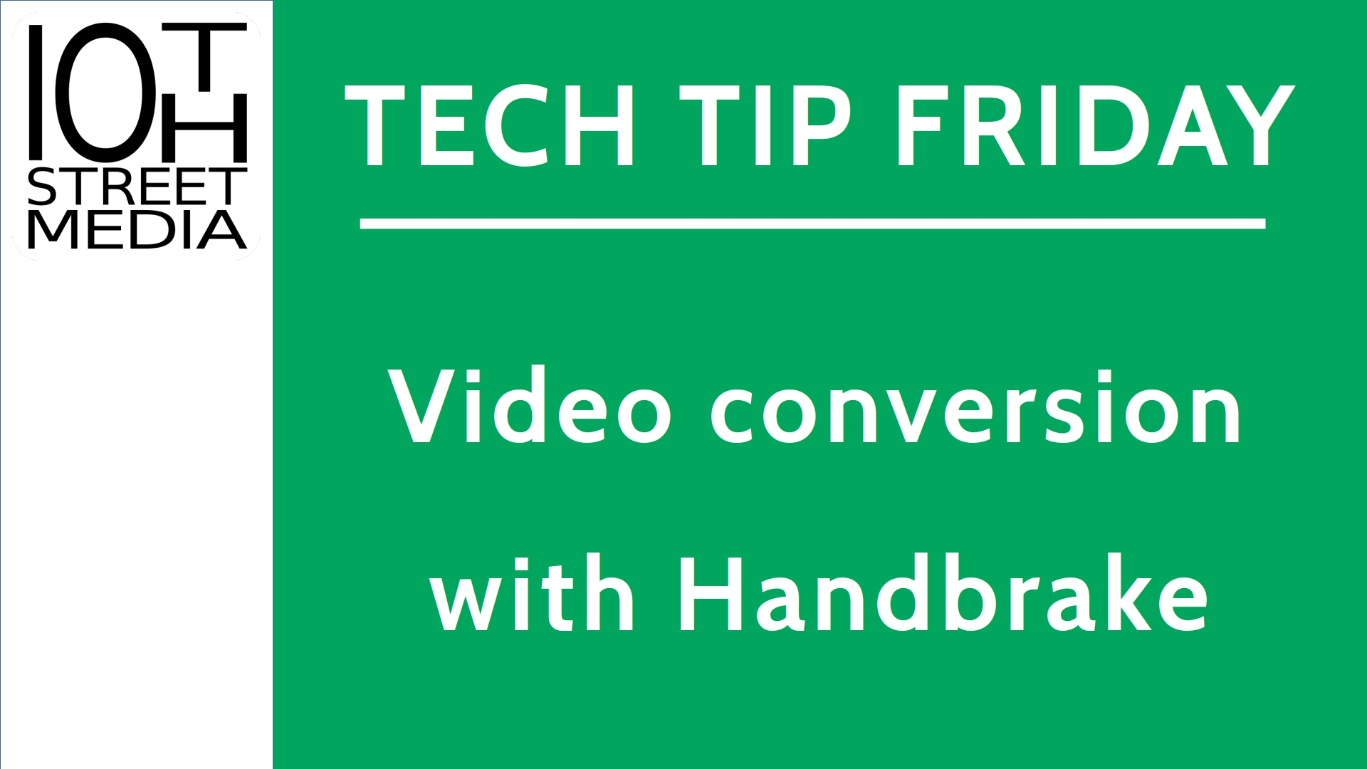Title card for episode 5 of Tech Tip Friday